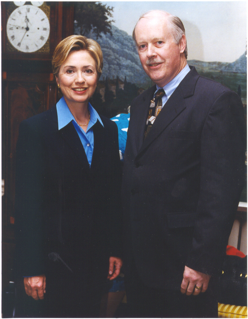 Robert Willard and First Lady Hillary Clinton