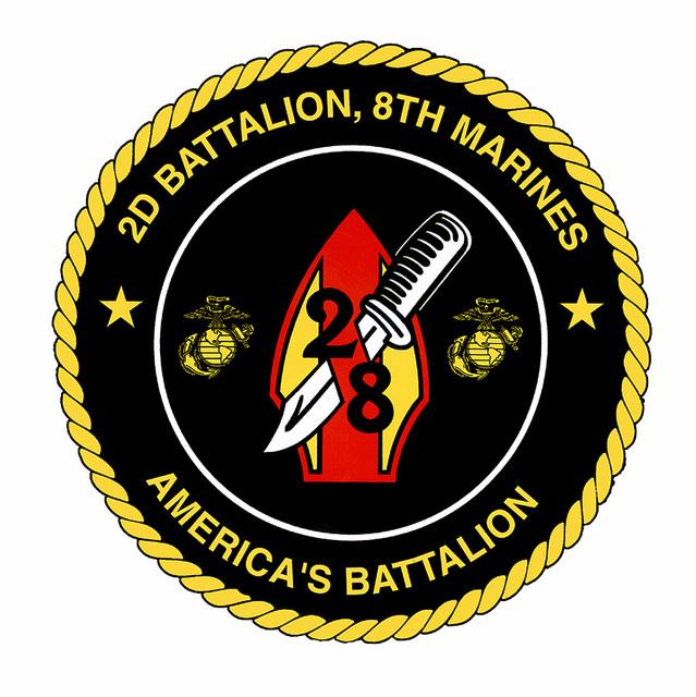 STICKER USMC UNIT   8TH TANK BATTALION TOW COMPANY  oo   USMC Lisc# 20187