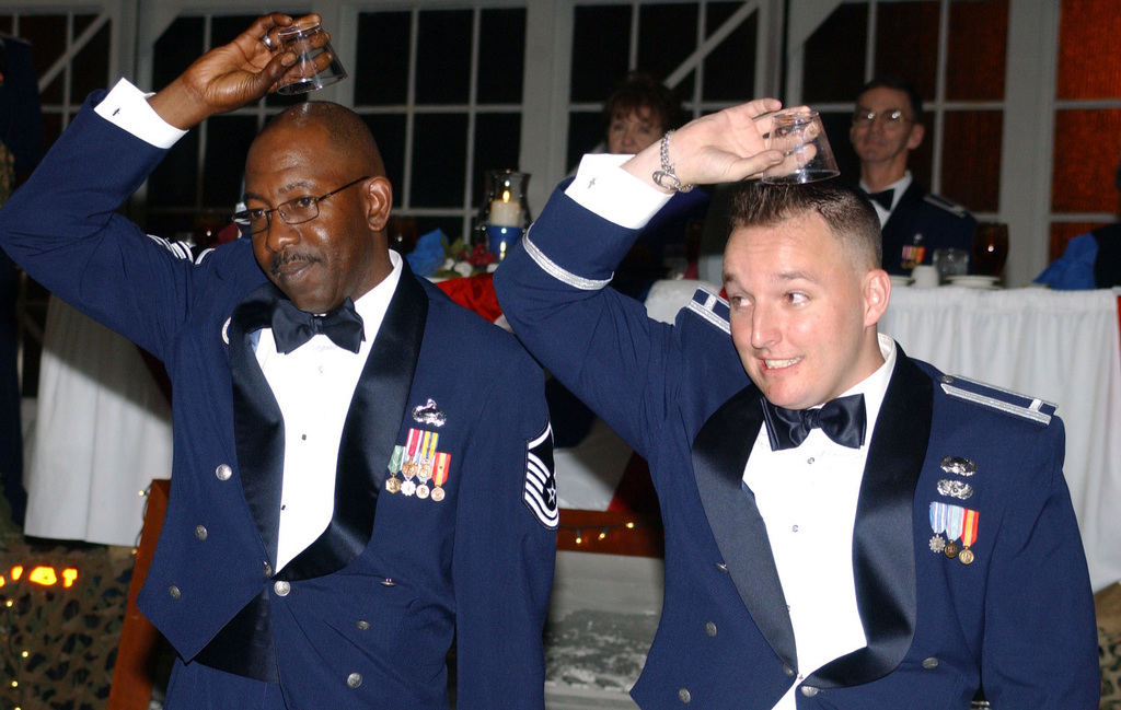 U S  Air Force MASTER SGT  Gregory McClain (left) and 1ST LT