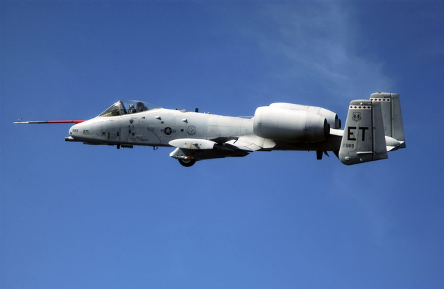 "U.S. Air Force MAJ. Michael""Lou""Rawls, 40th Flight Test Squadron, 46th Test Wing, pilots the maiden flight of the A-10C Thunderbolt II over Elgin Air Force Base, Fla., Jan. 20, 2005.  The maiden flight of an aircraft is the first occasion on which an aircraft leaves the ground of its own accord.  It is similar to a ship's maiden voyage. (U.S. Air Force photo by STAFF SGT. Scott Wilcox) (Released)"