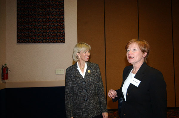 Colorado Water Congress in Denver, attended by Secretary Gale Norton for discussion of challenge grants for water conservation projects under Water 2025 Initiative, water agreements involving the Black Canyon of the Gunnison and Great Sand Dunes National Park, and other Western policy issues