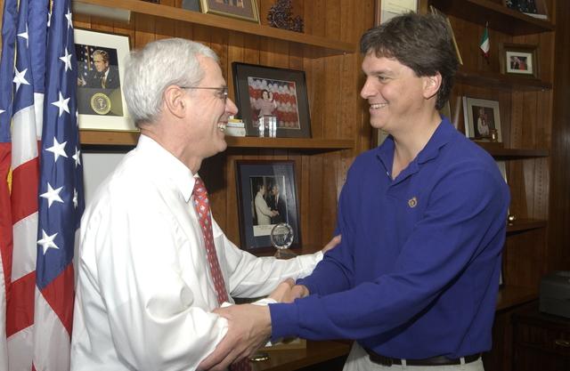 Deputy Secretary Roy Bernardi with Former Business Associate