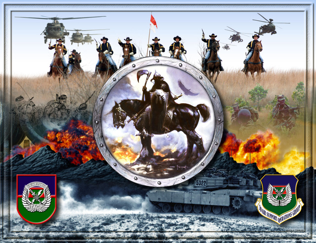 Artwork: A poster created for the US Air Force Tactical Air Control Party (TACP), assigned to the 3rd Air Support Operations Group (ASOG), which support of the US Army (USA) III Mobile Armored Corps