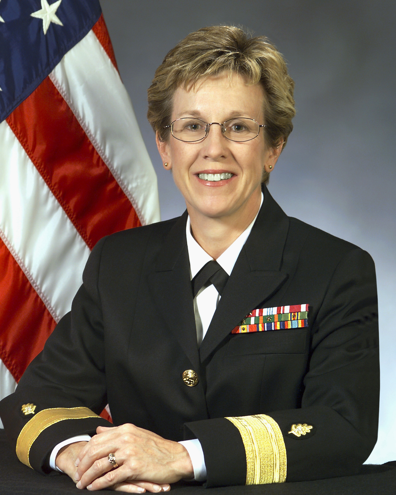 Portrait: US Navy (USN) Rear Admiral (lower half) (RDML) Christine S. Hunter, CHIEF of STAFF, Bureau of Medicine and Surgery. (Uncovered)