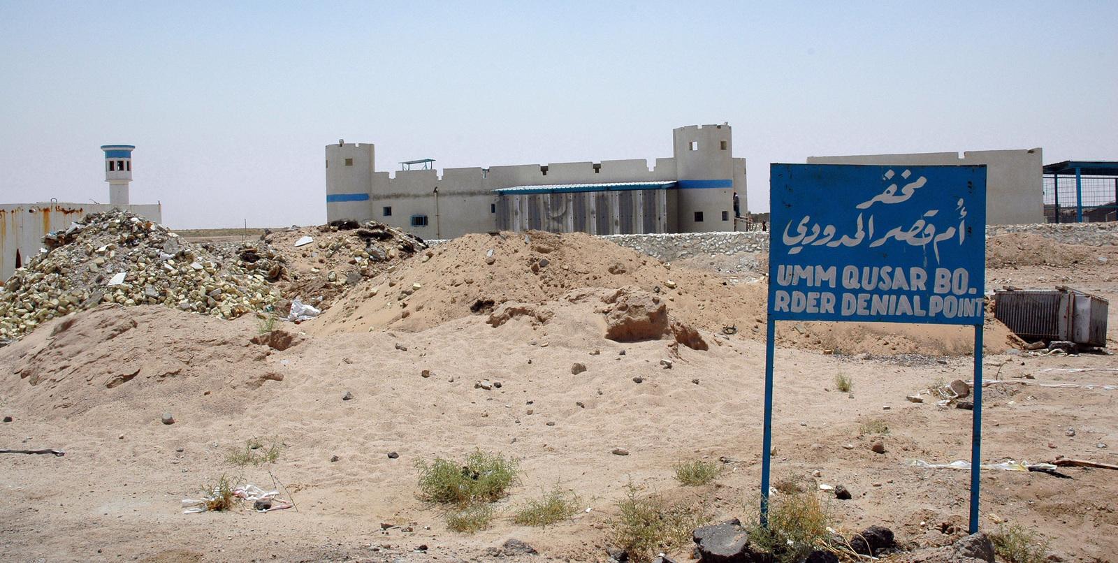 The border fort at Umm Qasr sits on the Iraq-Kuwait border