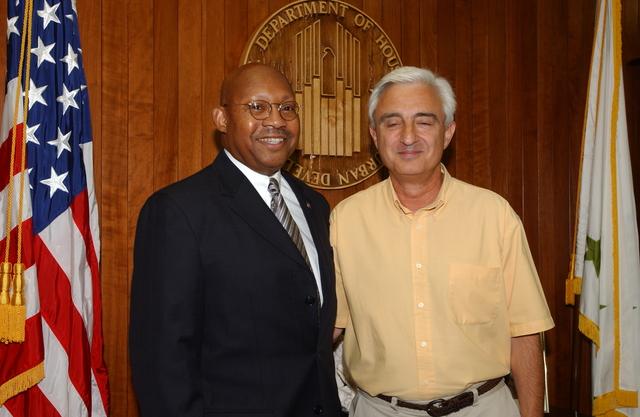 Secretary Alphonso Jackson with Ficarro Family