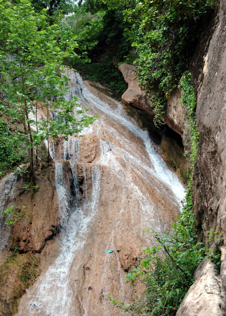 This spring-fed waterfall is a favorite tourist destination, and it located outside of Arbil, Arbil Province, Iraq (IRQ)