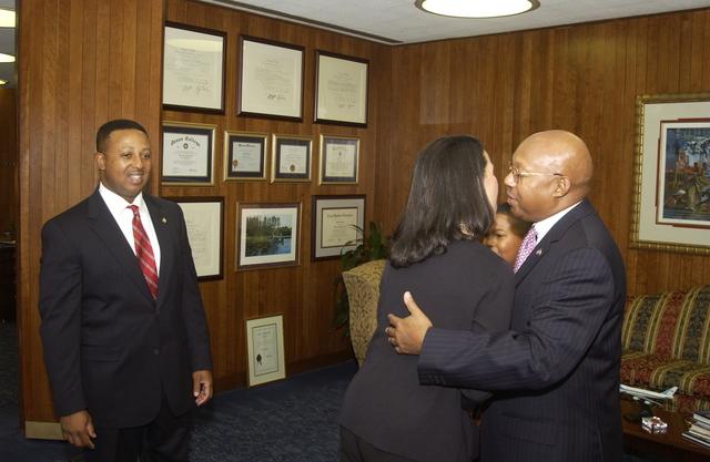 Secretary Alphonso Jackson with Ernest Parker