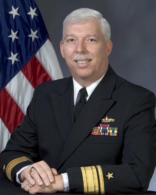 Portrait: US Navy (USN) Rear Admiral (upper half) (RADM) Mark A. Hugel, Deputy Director, Fleet Readiness Division, N43B. (Uncovered)