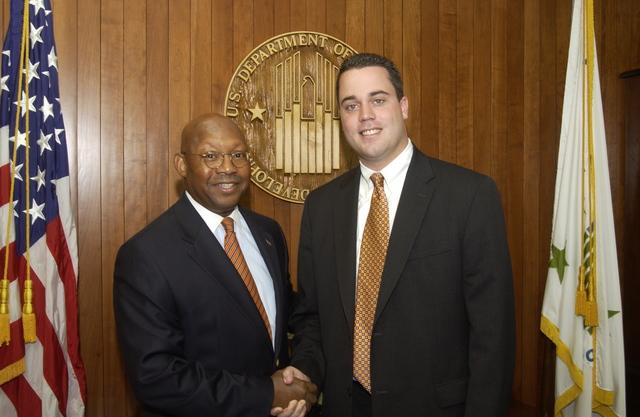 Secretary Alphonso Jackson with James Norton - Secretary Alphonso Jackson with James Norton at HUD Headquarters