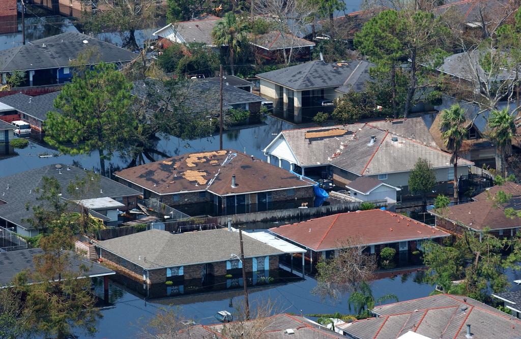 [Hurricane Katrina] New Orleans, LA, September 2, 2005 - Neighborhoods throughout the area remain flooded as a result of Hurricane Katrina.  Jocelyn Augustino/FEMA