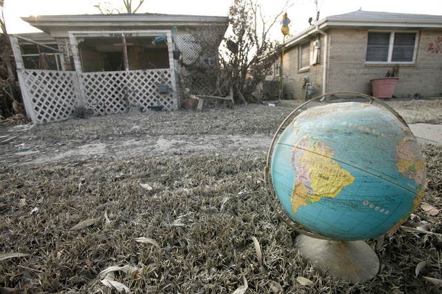 [Hurricane Katrina] New Orleans, LA., 9/20/2005--A random household item left in a front yard after the flood waters resided in the Lower 9th Ward following Hurricane Katrina.  Andrea Booher/FEMA