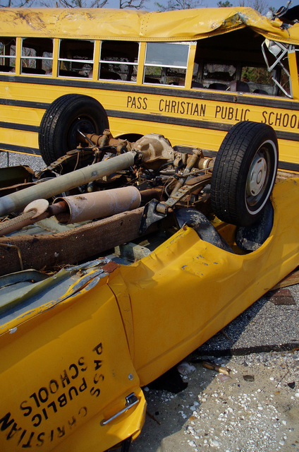 [Hurricane Katrina] Pass Christian, Miss., September 20, 2005  -- Hundreds of school busses along Mississippi's Gulf Coast were destroyed by Hurricane Katrina.  Mark Wingate/USACE