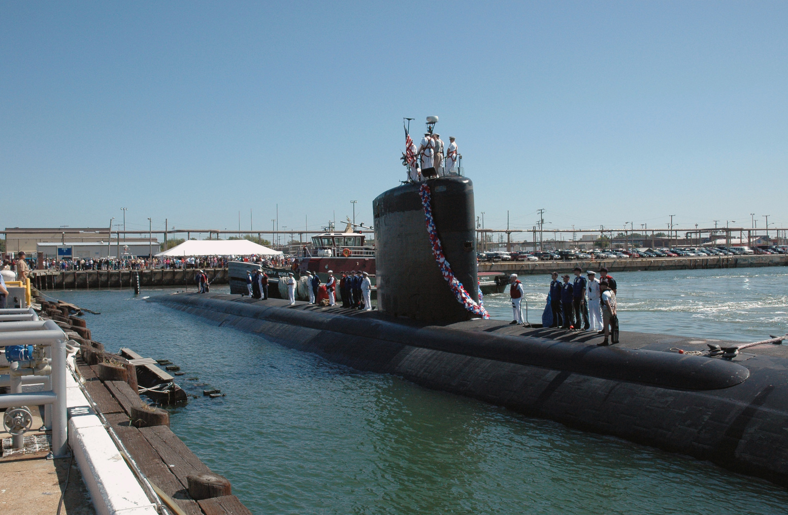 The US Navy (USN) Los Angeles Class Fast Attack Submarine USS