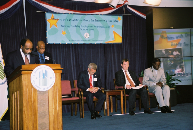 """National Disability Employment Awareness Month Program - National Disability Employment Awareness Month ceremonial program (""""Workers with Disabilities: Ready for Tomorrow's Jobs Today"""") at HUD Headquarters"""