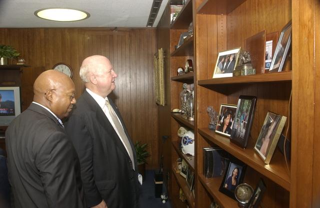 Secretary of Energy Samuel Bodman Visiting HUD - Visit of Energy Secretary Samuel Bodman to HUD Headquarters for meeting with HUD Secretary Alphonso Jackson