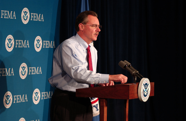 Washington, DC, October 21, 2005 -- R. David Paulison, the Acting FEMA Director reports on the track and strength of hurricane Wilma and ongoing preparations for her arrival in Florida. Bill Koplitz/FEMA