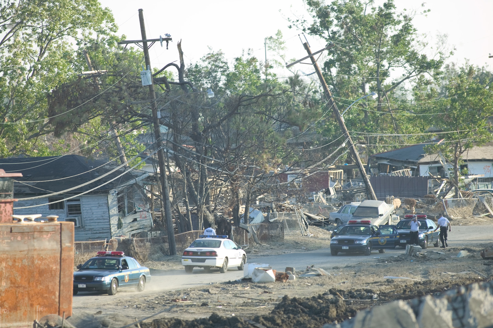 Hurricane Katrina New Orleans La 10222005 Pushed Over