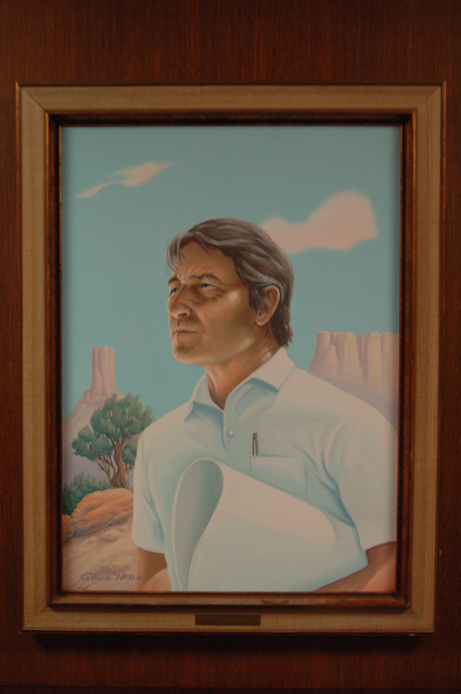 [Assignment: 48-DPA-N_Udall_Paint] Closeup of official painting of former Interior Secretary Stewart Udall [48-DPA-N_Udall_Paint_DOI_3195_TIF.jpg]