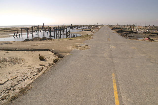 [Hurricane Rita] Holly Beach, LA, 11-16-05 -- This community of 500 structures was smote by Hurricane Rita's tidal surge.  Hurricane Rita left many people homeless who are asking FEMA to help them rebuild their community and get back on their feet.  MARVIN NAUMAN/FEMA photo