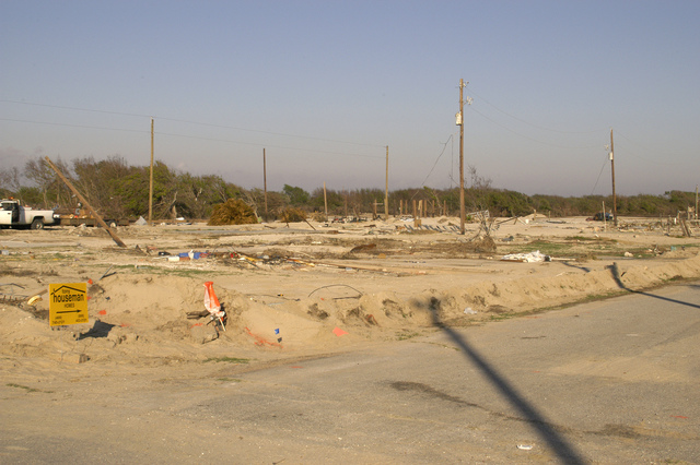 [Hurricane Rita] Johnson Bayou, LA, 11-16-05 -- This community at Johnson Bayou was wiped out from the tidal Surge from Hurricane Rita.  Hurricane Rita left many people homeless that are asking FEMA to help them get back on their feet and to rebuild their communities.  MARVIN NAUMAN/FEMA photo