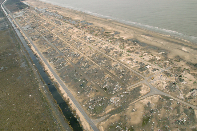 [Hurricane Rita] Holly Beach, LA, 11-16-05 -- This community of 500 structures was leveled by Hurricane Rita's tidal surge and high winds leaving little debris.  Hurricane Rita left many people homeless that are asking FEMA to help them get rebuild their community and get back on their feet.  MARVIN NAUMAN/FEMA photo