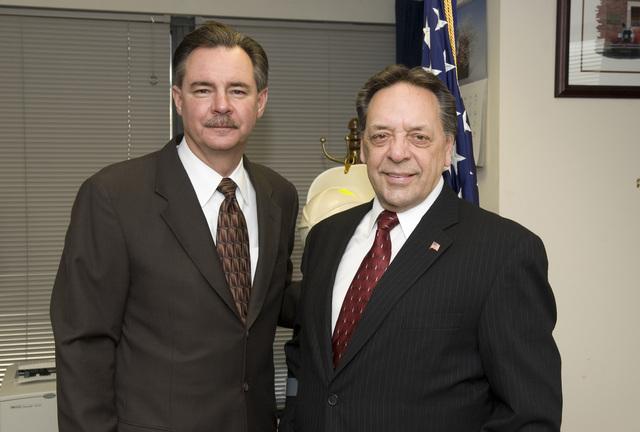 Washington, DC, January 30, 2006 -- Stephen Kempf, the Regional Director of FEMA's Region II Office in New York City with R. David Paulison, the acting FEMA Director.  Bill Koplitz/FEMA