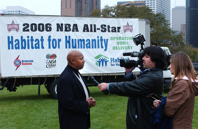 Secretary Alphonso Jackson at National Basketball Association-Habitat for Humanity Home Build - Secretary Alphonso Jackson at a home building event, sponsored by Habitat for Humanity in conjunction with the National Basketball Association (NBA), in Houston, Texas during the NBA's All-Star Game weekend