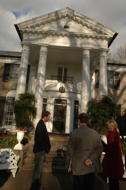 Graceland Mansion, home of Elvis Presley in Memphis, Tennessee, designated as National Historic Landmark