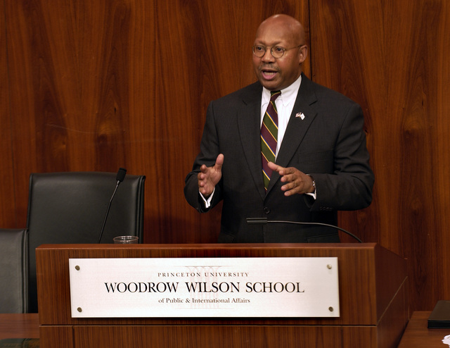 Secretary Alphonso Jackson at Princeton University - Secretary Alphonso Jackson visiting Princeton University for speaking engagement at the Woodrow Wilson School of Public and International Affairs