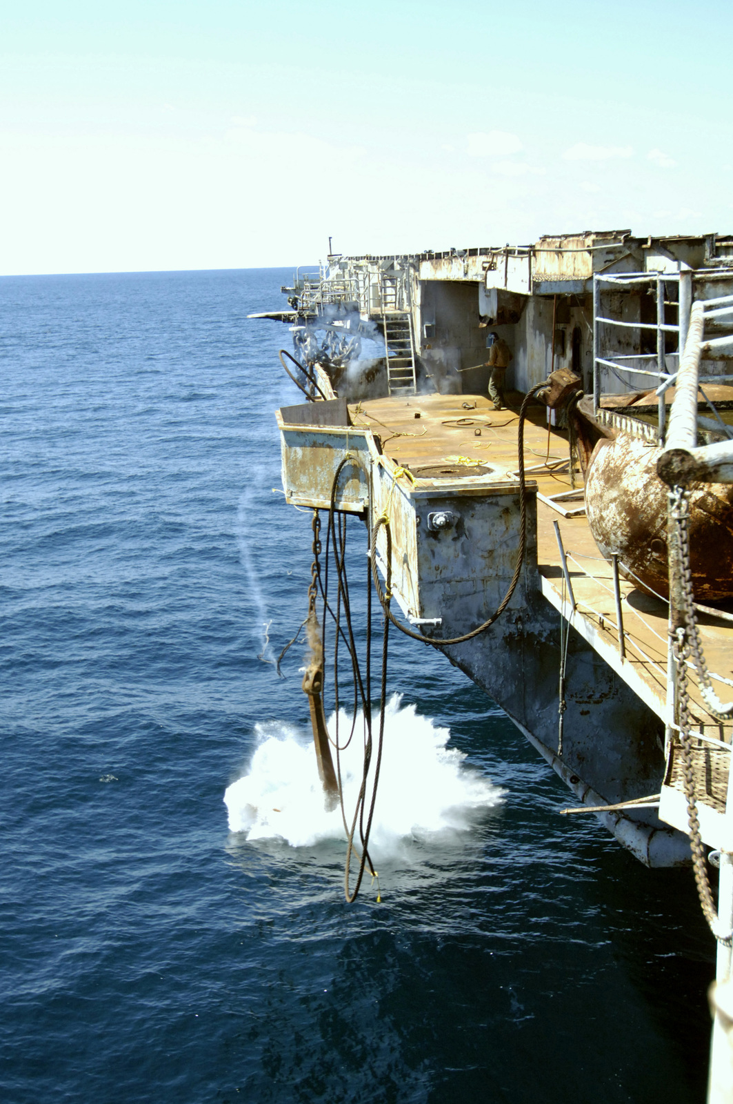 A view from onboard the decommissioned US Navy (USN