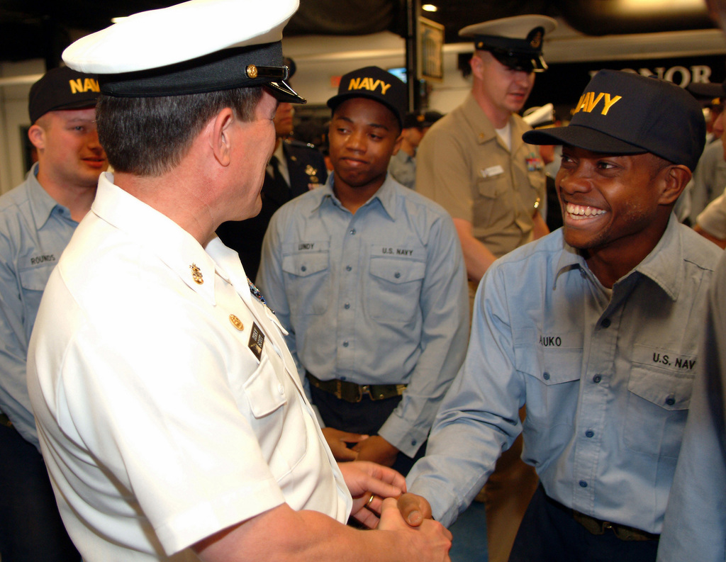 US Navy (USN) MASTER CHIEF PETTY Officer of the Navy (MCPON) Terry