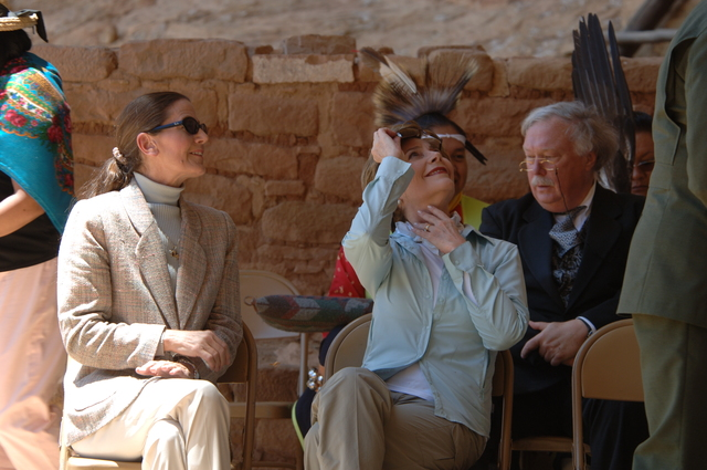 [Assignment: 48-DPA-N_Sc_Bush_CO] Visit of Acting Secretary P. Lynn Scarlett to [Mesa Verde National Park], Colorado, where she joined First Lady Laura Bush, National Park Service [Director Fran Mainella, Mesa Verde Superintendent Larry Wiese, and other dignitaries for speeches, tours marking the Park's 100th anniversary] [48-DPA-N_Sc_Bush_CO_DOI_5903.JPG]