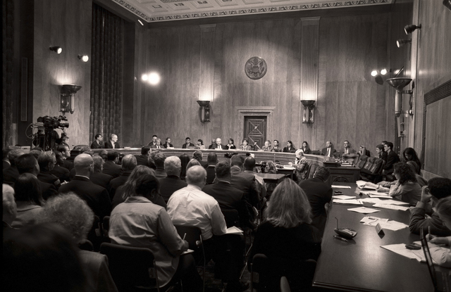 Washington, DC, May 24, 2006 -- Senate Hearing Chamber and R. David Paulison at his confirmation hearing for the FEMA Director position.  FEMA/Bill Koplitz