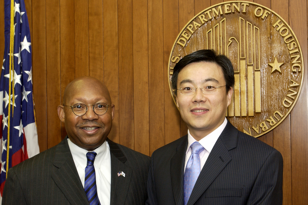 Visit of Drs. Wang to HUD - Visit of Drs. Wang, including Ann Wang, to HUD Headquarters for meeting with Secretary Alphonso Jackson