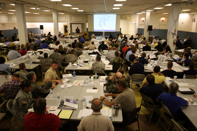[Hurricane Katrina/Hurricane Rita] Baton Rouge, LA, June 13, 2006 - Federal, state and local emergency support function leaders gather for a week long exercise in Baton Rouge to test the standard operating procedures and new structures relevant to emergency management's response throughout hurricane season. Robert Kaufmann/FEMA