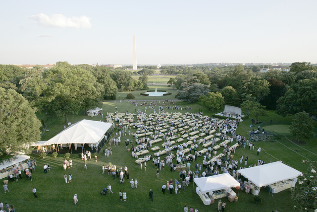 An Overview of the Congressional Picnic on the South Lawn of the White House