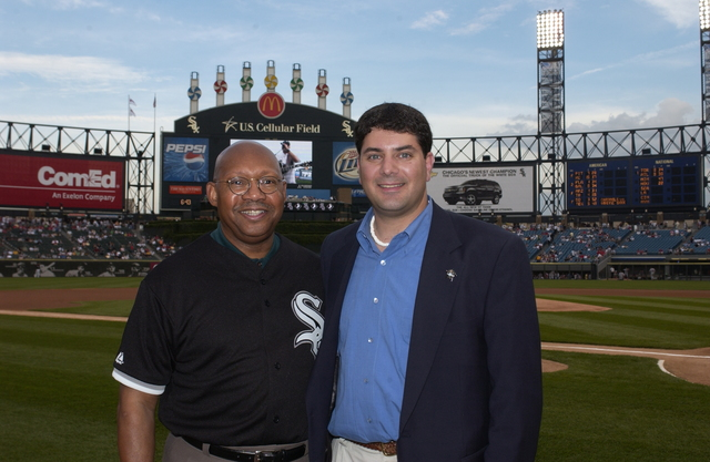 Secretary Alphonso Jackson at Chicago White Sox Baseball Game - Secretary Alphonso Jackson attending Chicago White Sox baseball game at U.S. Cellular Field in Chicago, Illinois, along with directors of local housing authorities