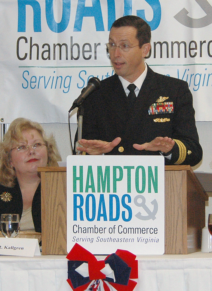 Guest speaker, U.S. Navy CMDR. Thomas A. Craig, M.D., congratulated Portsmouth, Va., service members for their achievements throughout the year during the Hampton Roads Chamber of Commerce Armed Forces Appreciation Luncheon.  This luncheon is held annually to recognize local service members for their achievements. (U.S. Navy PHOTO by Mass Communication SPECIALIST Seamen Apprentice Joshua Adam Nuzzo) (Released)