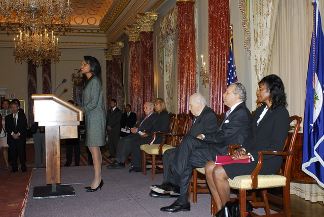 [Assignment: 59-CF-DS-32106-06] Event hosted by Secretary Condoleezza Rice in the Benjamin Franklin Room, marking the launch of the Ralph Bunche Societies Initiative... [Photographer: Ann Thomas--State] [59-CF-DS-32106-06_DSC0022.JPG]