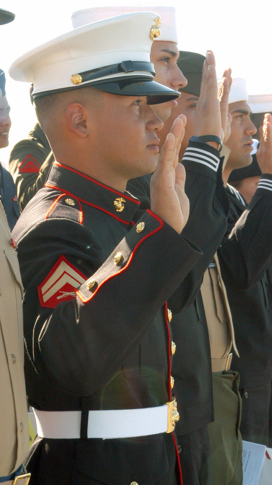 U S  Marine CPL  John Freddy Moreno Rodriguez, takes the