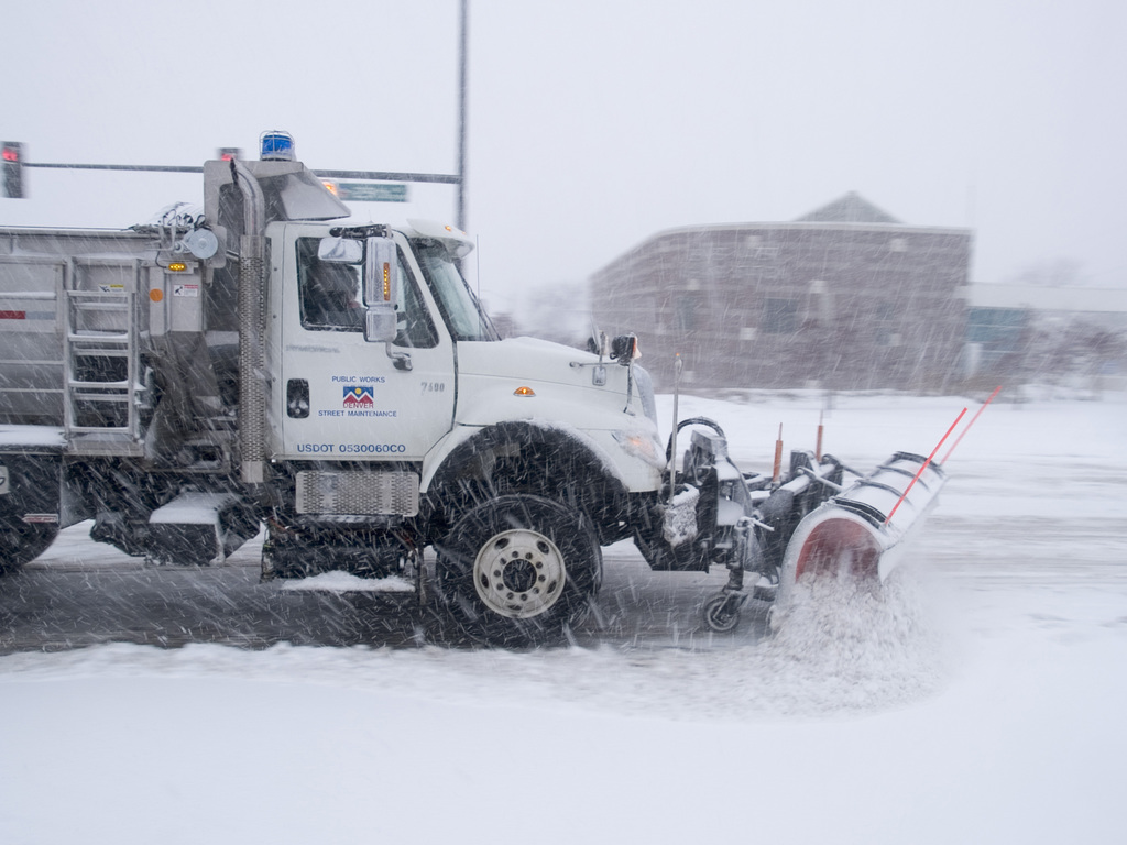 [Snow] Denver, Colorado, December 20, 2006 - Plows work to keep street passable as a  blizzard hits Denver with up to 28 inches of snow. FEMA/Michael Rieger