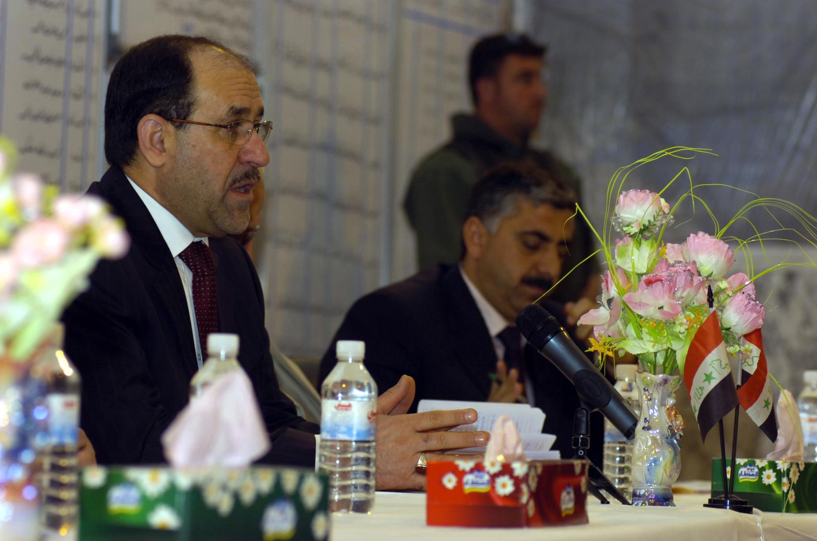 https nara getarchive net media prime minister nuri al maliki and members of his council speak to members of 6bb11c