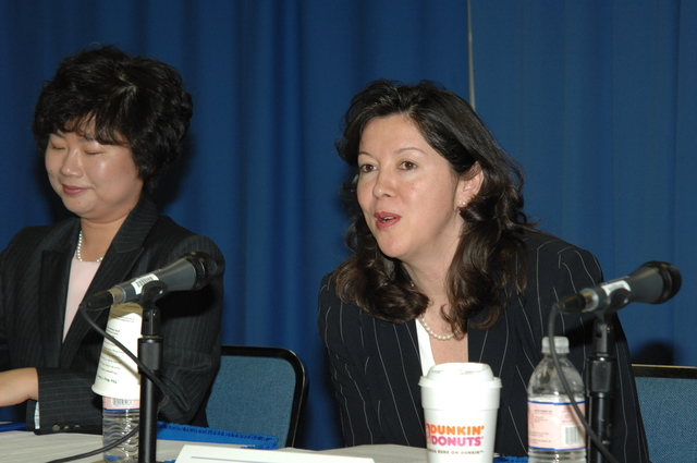"""Women's History Month Program - National Women's History Month Program at HUD Headquarters, featuring panel discussion, """"Shattering the Glass Ceiling,"""" with panelists Loretta Greene, Jean Lin Pao, Cynthia Washington, Anna Farias, and Camille Acevedo"""