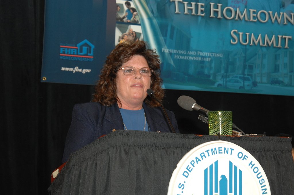 """HUD-Sponsored Homeownership Summit - HUD-sponsored Homeownership Summit (""""Preserving and Protecting Homeownership""""), in Washington, D.C., [addressing impact of risky, high-priced loans, HUD actions against predatory lending, and the modernizing of the Federal Housing Administration to provide a safer alternative to exotic mortgages. Secretary Alphonso Jackson delivered the keynote address, with speeches as well by Assistant Secretary for Housing-Federal Housing Commissioner Brian Montgomery and General Deputy Assistant Secretary for Housing Frank Davis]"""