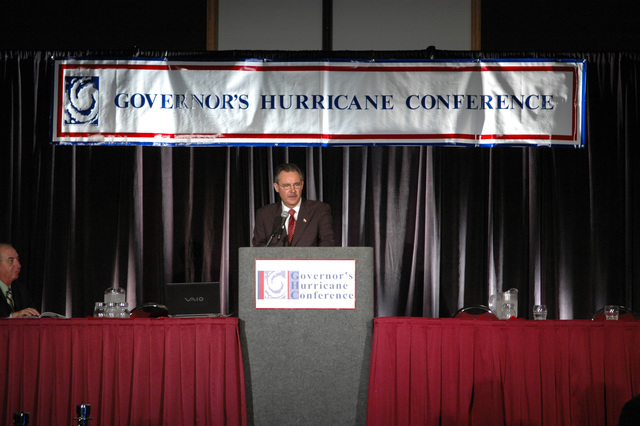 Fort Lauderdale, FL, May 16 2007 -- FEMA Director David Paulison speaks at the State of Florida's 21st Annual Governor's Hurricane Conference. Florida is preparing for the 2007 hurricane season that begins on June 1st. Mark Wolfe/FEMA