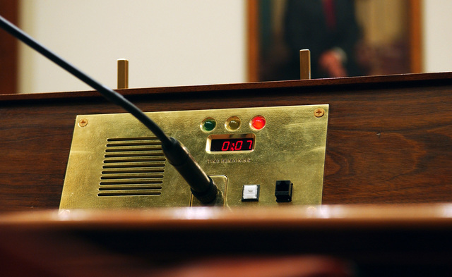 Washington, DC, May 18, 2007 -- Timer used in a House Hearing Chamber to let the speaker know how much time he or she has left.  FEMA/Bill Koplitz