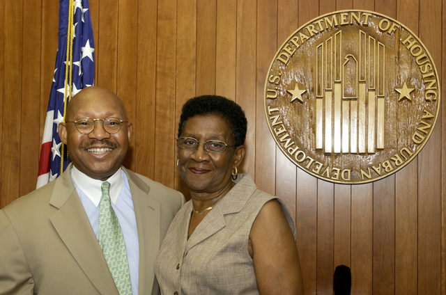 Visit of Curtis and Lillie Hardison to HUD - Visit of Curtis and Lillie Hardison to HUD Headquarters for meeting with Secretary Alphonso Jackson