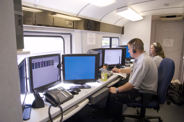 [Severe Storms and Flooding] La Crosse, WI, August 25, 2007 --  An incident command center monitors local activity. FEMA is working with state and local officials to help with recovery efforts.  Photo by Patsy Lynch/FEMA