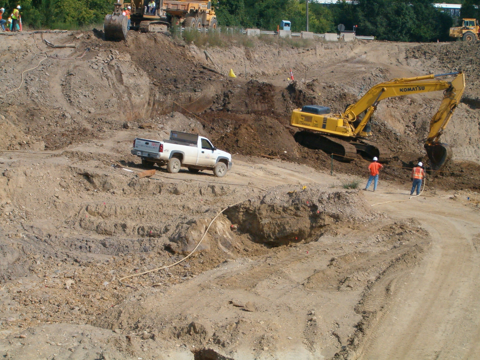 Soil Sample Numbers: 1692, 1693, 1694, and 1695 in excavated area facing Northwest [Operable Unit-1 - Landfill Area]